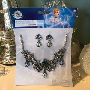 Disney Cinderella Necklace Set New with tag